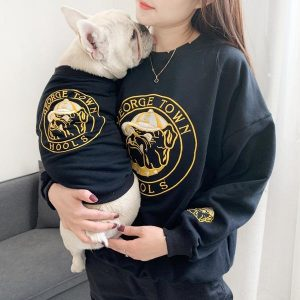 matching dog and owner shirts