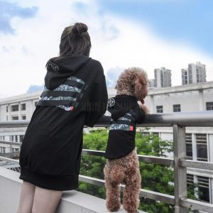 matching dog and owner clothes