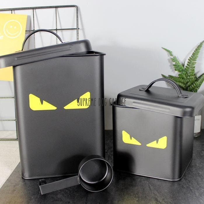 Monster Eyes Metal Dog Food Container Combo Set For Small Dogs