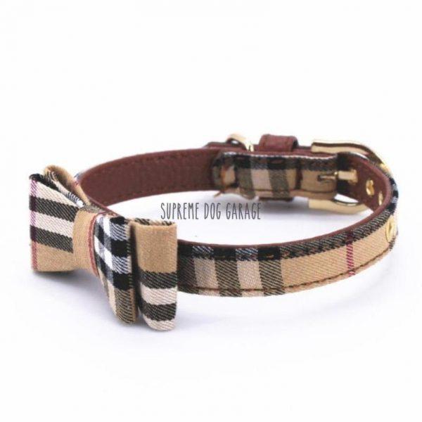 bow tie dog collar burberry