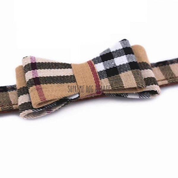 burberry dog collar with bow