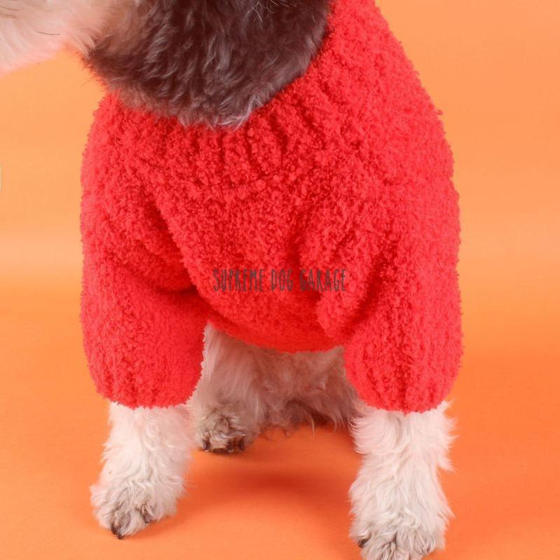 orange dog sweater