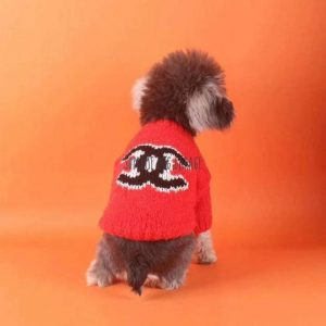 CC Orange Knitted Designer Dog Sweater