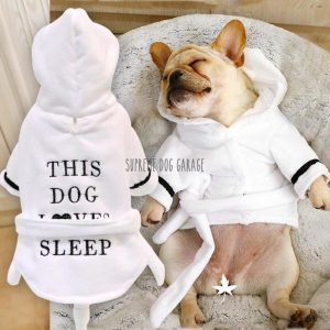 Love Me Dog Bathrobe