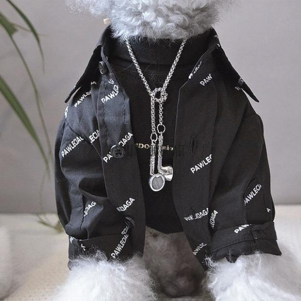 Pawlenciaga Black Edition Designer Dog Shirt