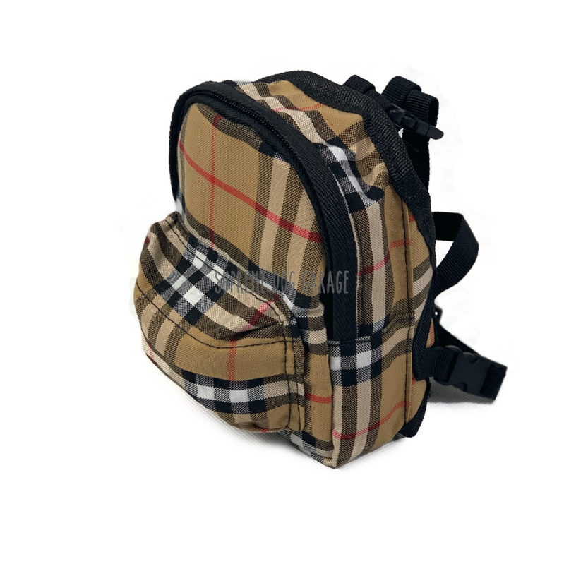 small dog backpack harness