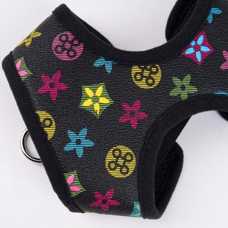 Louie Black Edition Designer Dog Walking Set (Harness + Leash)
