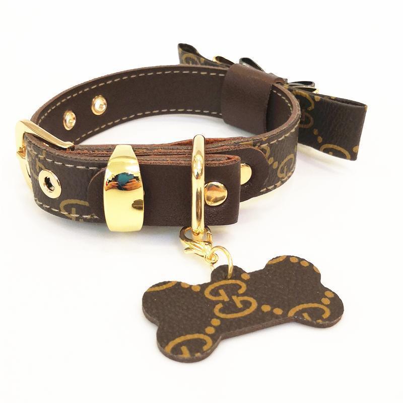 gucci bow tie dog collar