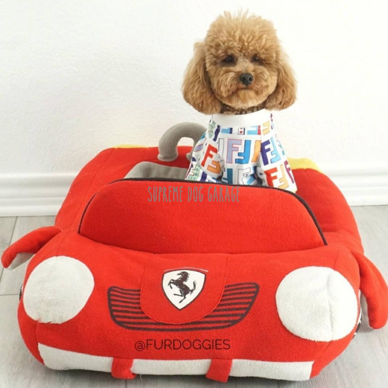 Furrari Sports Car Dog Bed