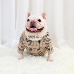 Barkberry Vintage Plaid Designer Dog Sweater