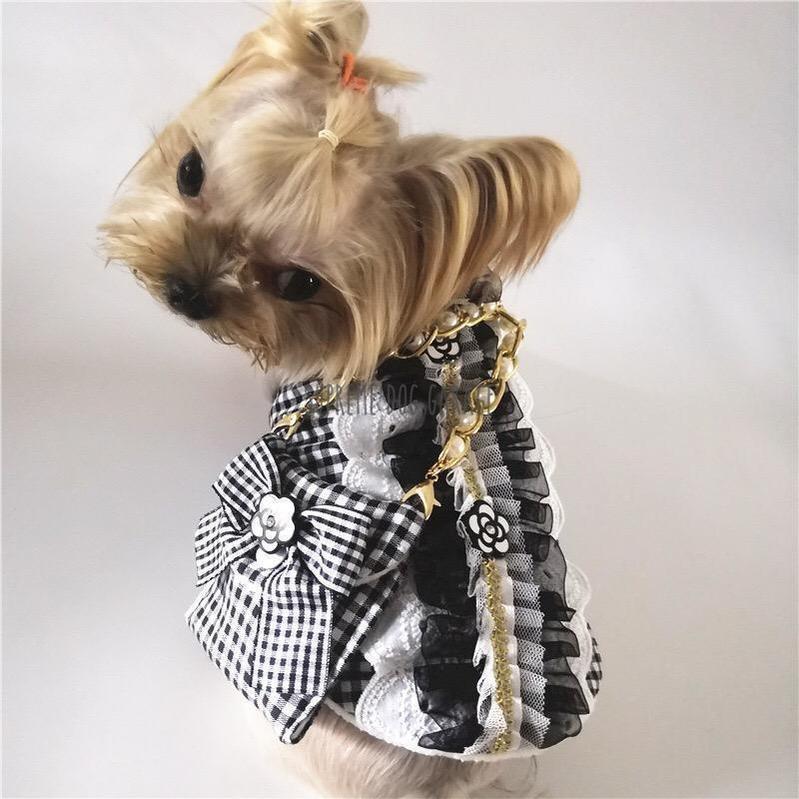 chanel dog dress