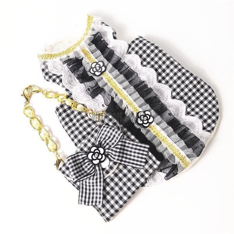 plaid dog dress