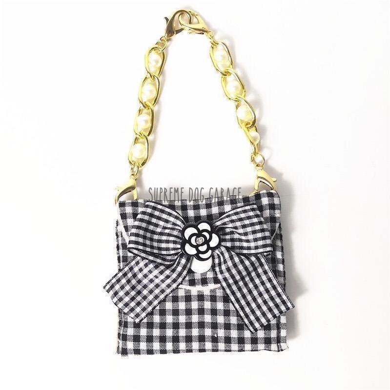 chanel dog purse
