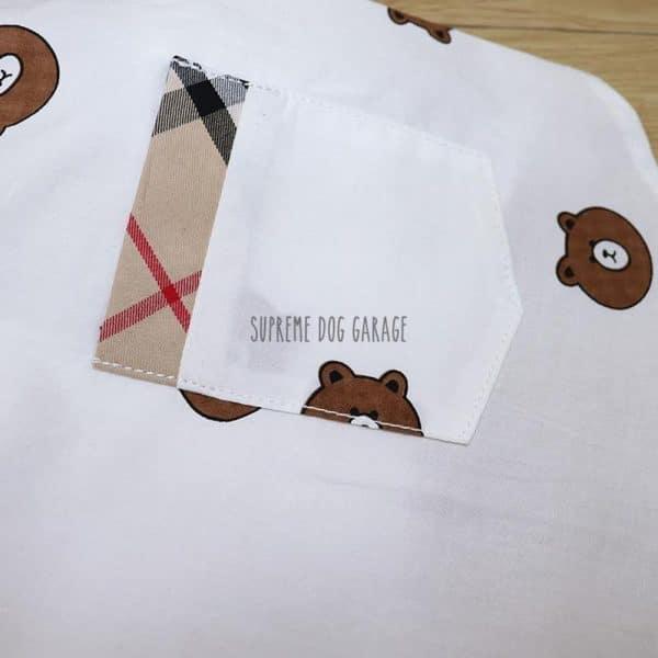 Furry Bear Plaid Designer Dog Shirt