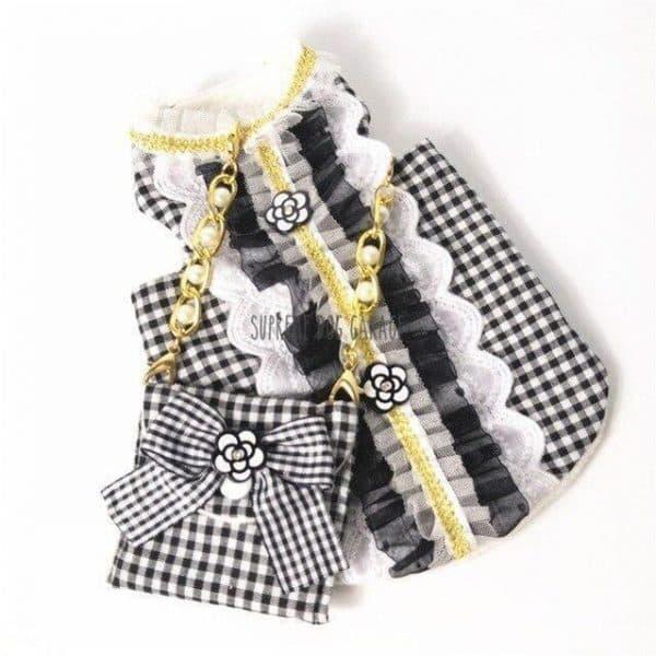 Coco Glamour Designer Dog Dress With Bag Set