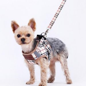 Barkberry Fashion Box Logo Step In Dog Harness & Leash Set