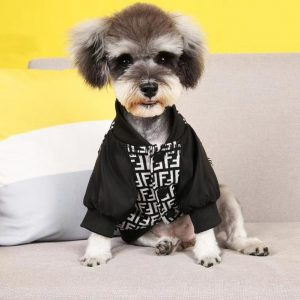 Furdi Black & White Dog Bomber Jacket