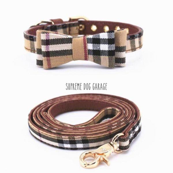 burberry dog collar and leash