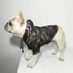 A Barking Pup Camo Dog Hoodie