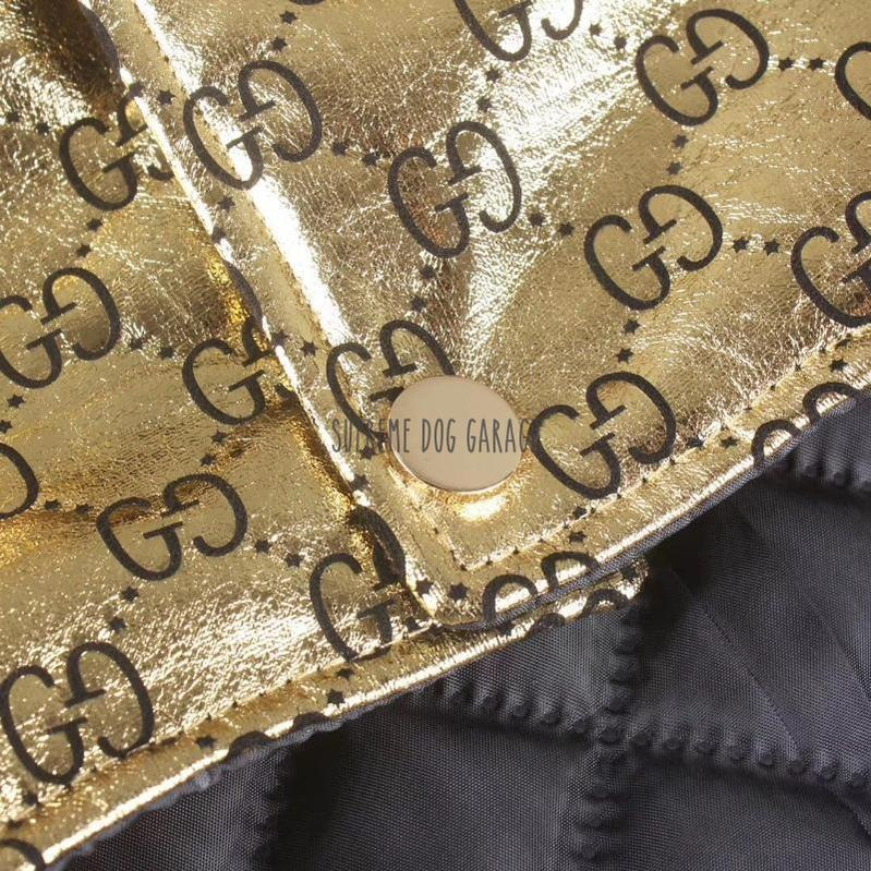 Pawcci Golden Puffer Dog Jacket