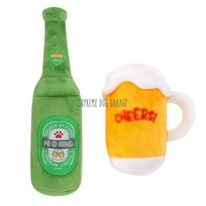 Pawneken Beer Bottle Plush Dog Toy
