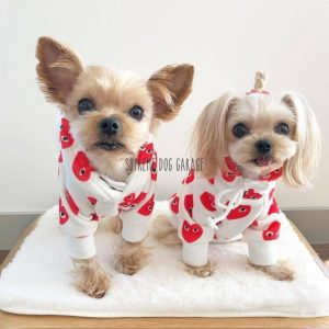 Red Hearts Dog Hoodie