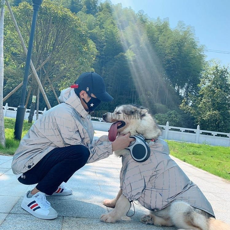 Mateps Matching Dog And Owner Reflective Jackets - Set