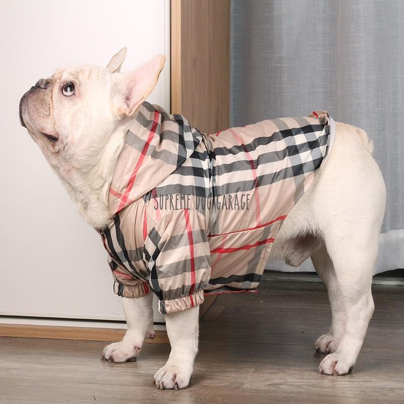 Furry Pawz Plaid Dog Raincoat
