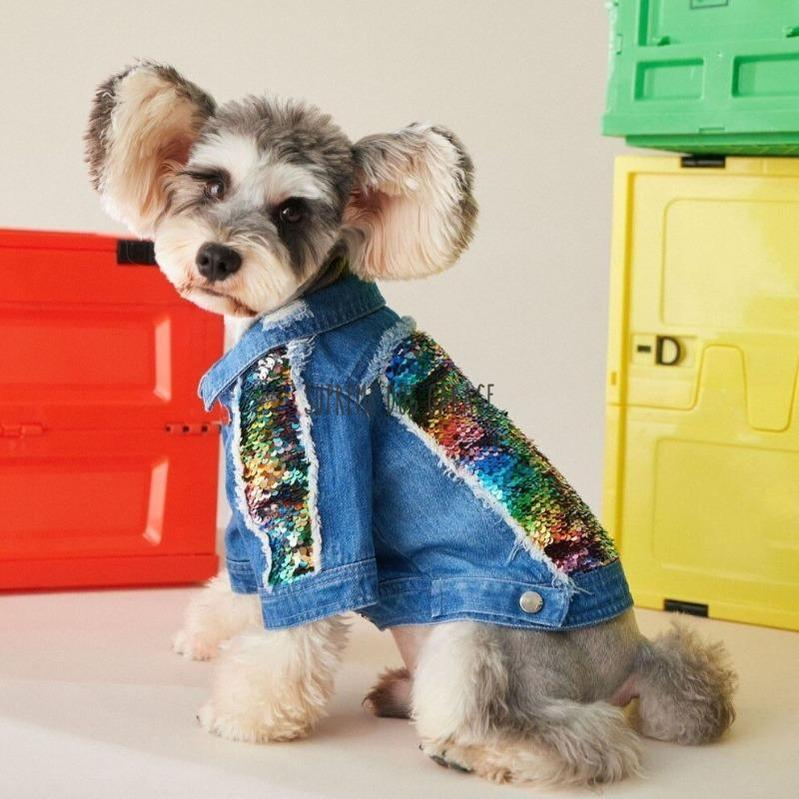 Tawney Bear Denim Dog Jacket