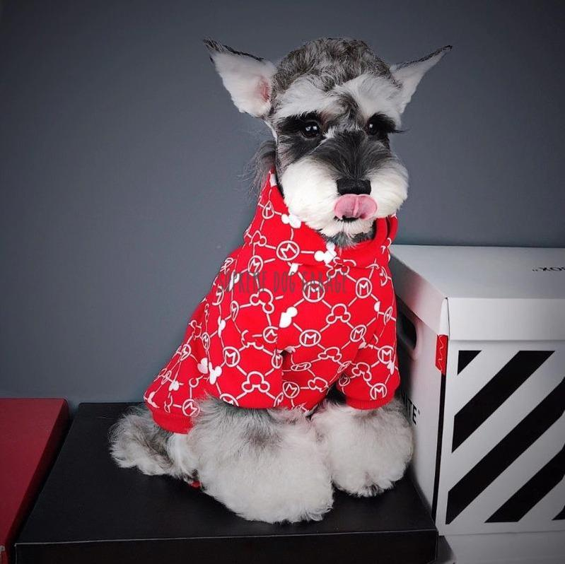 Red Mickey Hypebeast Dog Hoodie