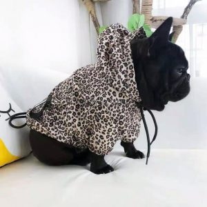 Leopard Dog Raincoat With Hood