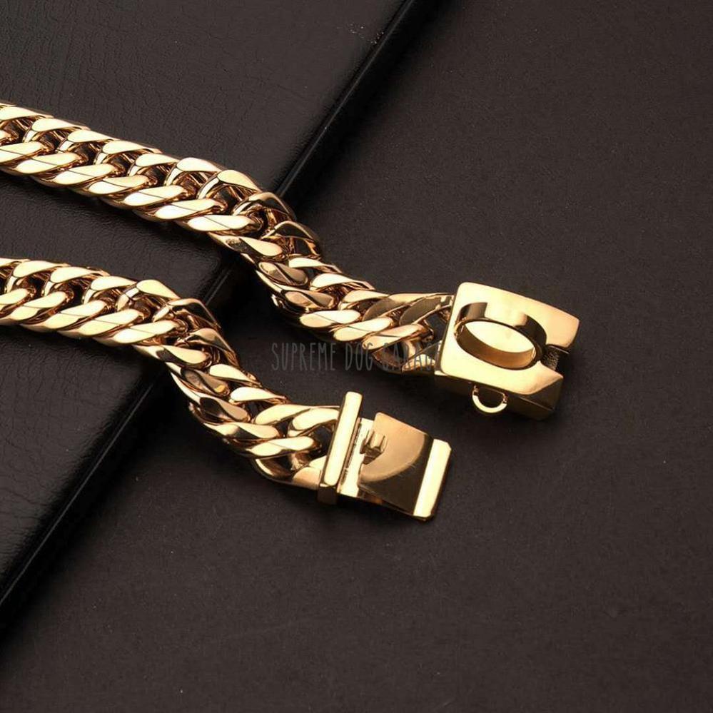 cuban link dog chain collar