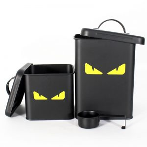 metal dog food containers