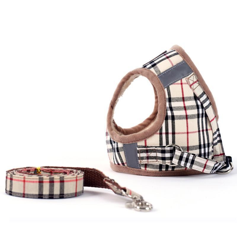 burberry plaid dog harness