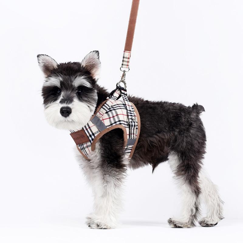 plaid dog harness