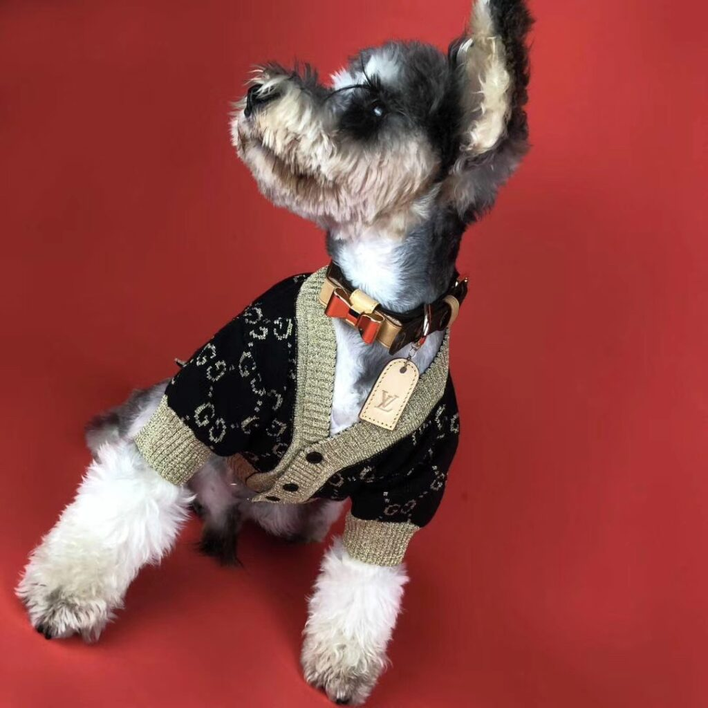 luxury dog sweater