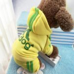 dog jumpsuit with feet