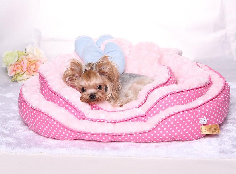 pink dog bed