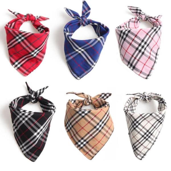 plaid bandanas for dogs