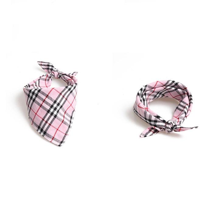 plaid dog bandana
